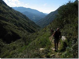 Aufstieg Val Baranca Colle Egua