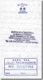 Rifugio Cristina Huettenstempel