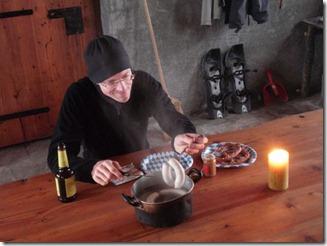 Tim beim Weisswurstessen auf Mottac