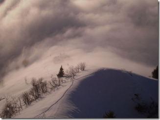 Val Grande Alpe Mottac im Nebel