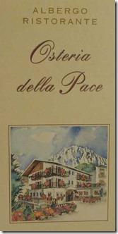 Psteria-Pace-Speisekarte