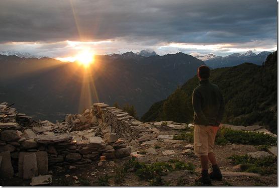 Val-Grande-Sonnenuntergang
